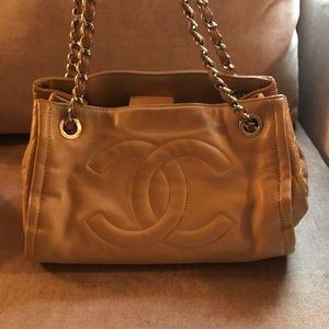 RARE Chanel Sand Executive Bowler Bag